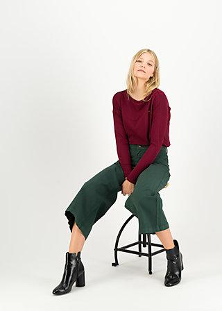 high waist culotte, forest green , Hosen, Grün