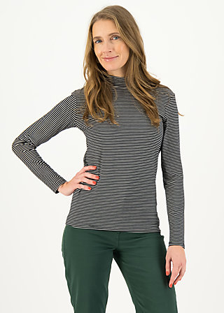 Longsleeve lonely lips turtle , after dark stripes, Shirts, Black