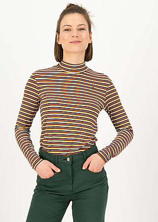 Longsleeve lonely lips turtle , all colour stripes, Shirts, Pink