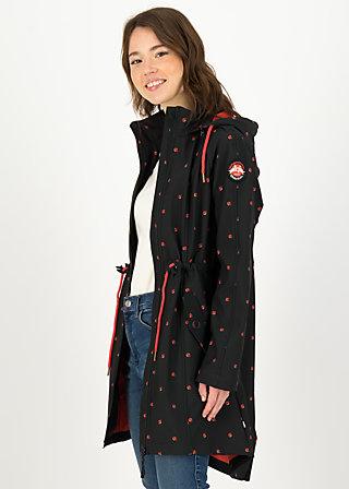 Soft Shell Coat swallowtail promenade, ladybug friends, Jackets & Coats, Black