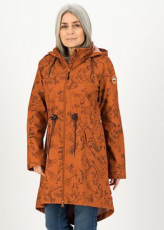 Softshelljacket swallowtail promenade, whimsical wisdom, Jackets & Coats, Brown
