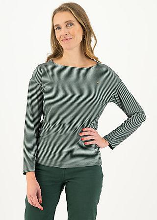 Longsleeve sweet sailorette, deep forest stripes, Shirts, Green
