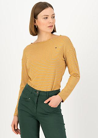 Longsleeve sweet sailorette, soft golden stripes, Shirts, Yellow