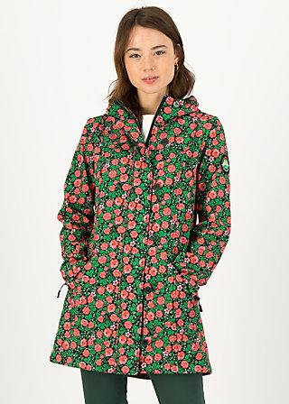Soft Shell Parka wild weather long anorak, floral potpourri, Jackets & Coats, Black