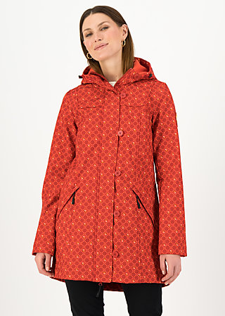Soft Shell Parka wild weather long anorak, sweet apple, Jackets & Coats, Red
