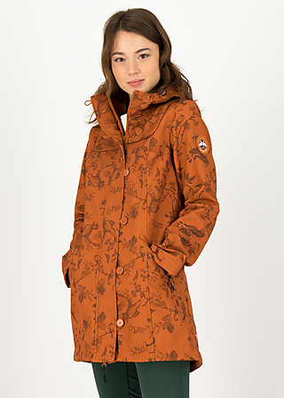 Soft Shell Parka wild weather long anorak, whimsical wisdom, Jackets & Coats, Brown