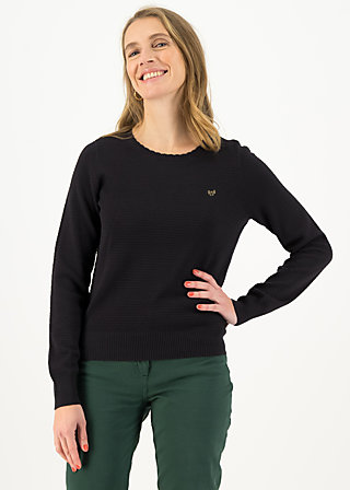 Knitted Jumper chic mystique, blacky classic, Black