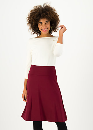 Knee Length Skirt daily poetry, foxy red, Skirts, Red
