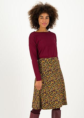 Knee Length Skirt daily poetry, lorelei laurel, Skirts, Black