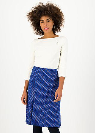 Knee Length Skirt daily poetry, pom poms, Skirts, Blue