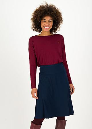 Knee Length Skirt daily poetry, team blue, Skirts, Blue
