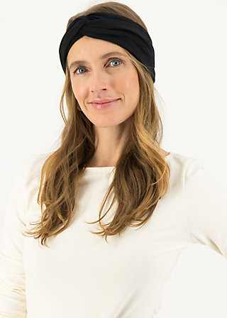 Headband hot knot, black star, Accessoires, Black
