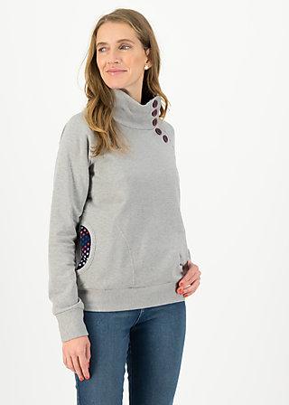 Sweater oh so nett, great grey, Pullover & Sweatshirts, Grau