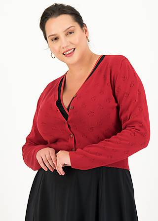 Cardigan save the world, red apple pie, Cardigans & lightweight Jackets, Red