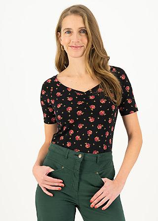 Jersey T-Shirt savoir-vivre, romy rose, Shirts, Black