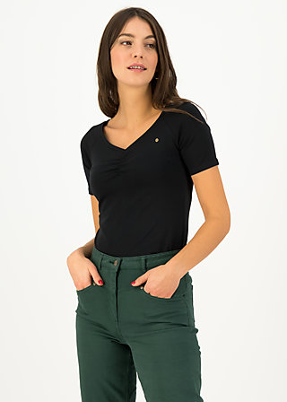 Jersey T-Shirt savoir-vivre, black star, Shirts, Black