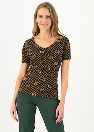 Jersey T-Shirt savoir-vivre, fiona fortuna, Shirts, Black
