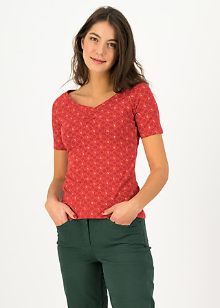 Jersey T-Shirt savoir-vivre, sweet goldie, Shirts, Red
