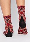 Baumwollsocken sensational steps, classic checky, Accessoires, Rot