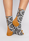 Baumwollsocken sensational steps, crazy carpet, Accessoires, Schwarz
