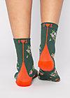 Baumwollsocken sensational steps, flower feet, Accessoires, Grün