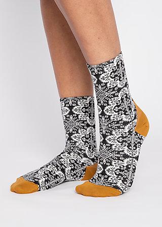 Socks sensational steps, crazy carpet, Accessoires, Black