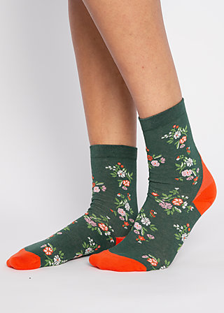 Socks sensational steps, flower feet, Accessoires, Green
