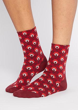 Socks sensational steps, red retro, Accessoires, Red