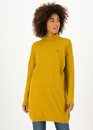 Turtleneck Jumper straight n easy turtle, yellow classic, Yellow