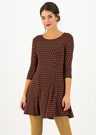 Tunic Dress swing lovers, ruby red, Dresses, Black