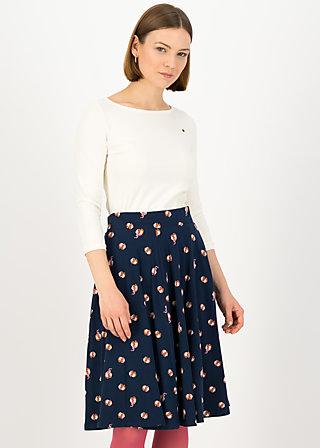Circle Skirt wooden heart circular, go ginny go, Skirts, Blue