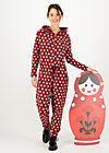 Overall cozy cocoon, rolling ruschka, Hosen, Rot