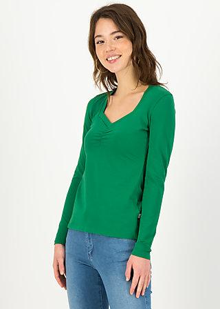Longsleeve glowing heart, fauna green, Shirts, Green