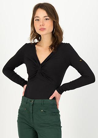 Longsleeve hot knot lacy, black beautys, Shirts, Schwarz