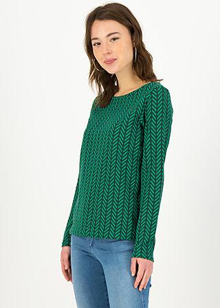 Longsleeve hüpfeherz, green zig zag, Shirts, Grün