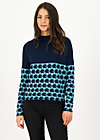 Strickpullover long turtle, knit blue apple, Pullover & Sweatshirts, Blau