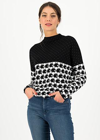 Strickpullover long turtle, knit black apple, Pullover & Sweatshirts, Schwarz