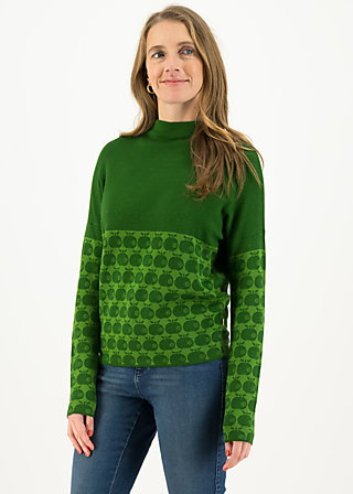 Strickpullover long turtle, knit green apple, Pullover & Sweatshirts, Grün