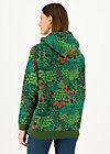 Hoodie matrioschkas armour, herbal garden, Jumpers & Sweaters, Green