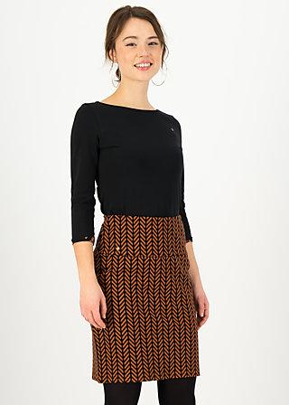 Pencil Skirt straight pencil, brown zig zag, Skirts, Brown