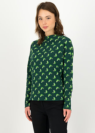 Longsleeve tailorlove turtle, franny frog, Shirts, Green