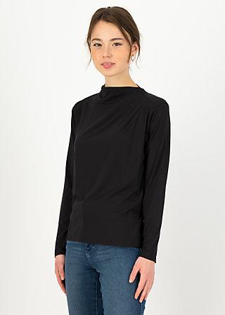 Longsleeve vive la draperie, black beautys, Shirts, Schwarz
