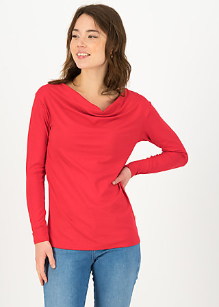 Longsleeve cascadella pure, red fire, Shirts, Red