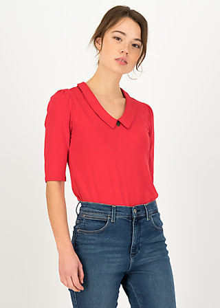 Shirt garconette pure, red fire, Shirts, Red