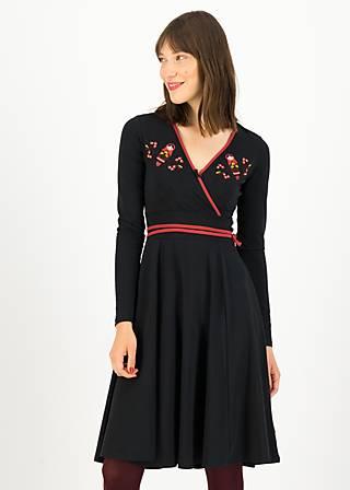 Jersey Dress shalala tralala, black star, Dresses, Black