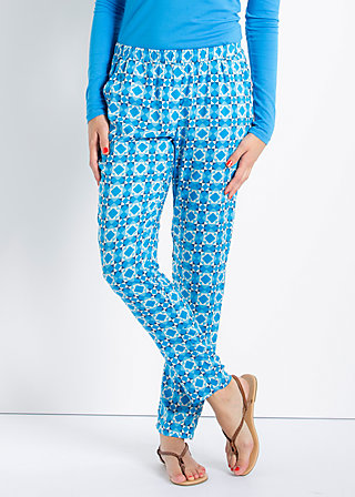 adams rib pants, cascades of azur, Hose, Blau
