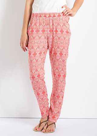 adams rib pants, romantically minded, Hosen, Rot