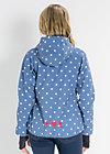 cosy rainstorm survival zip, downtown dots, Jacken, Blau