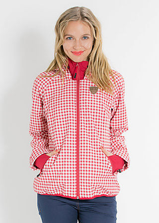 cosy rainstorm survival zip, city chic check, Jacke, Rot