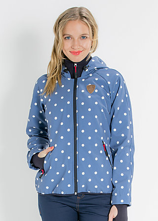 cosy rainstorm survival zip, downtown dots, Jacke, Blau